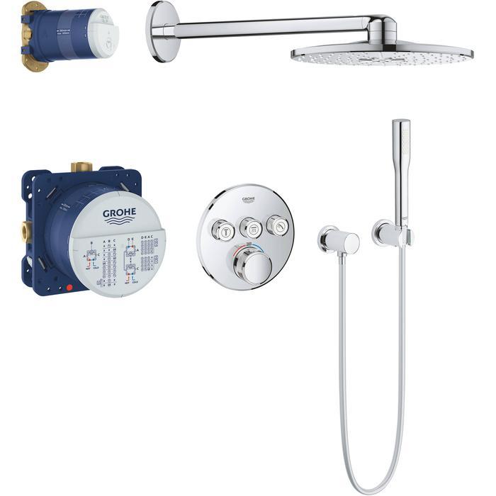 Grohe Grohtherm SmartControl Perfect regendoucheset met Rainshower 310 SmartActive chroom