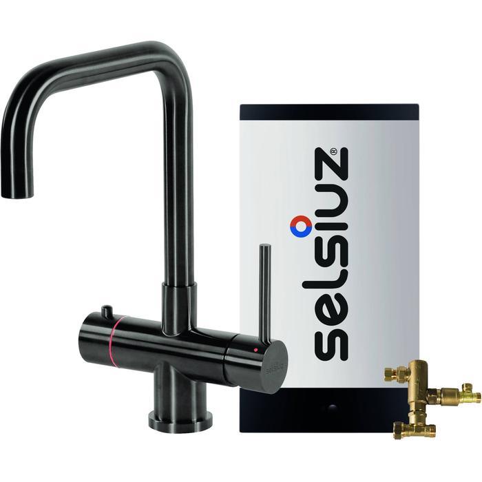 Selsiuz 3-in-1 Kokend-Water Kraan met Combi Boiler en Haakse Kraan Gun Metal