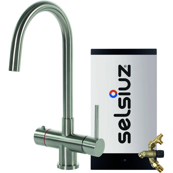 Selsiuz 3-in-1 Kokend-Water Kraan met Combi Extra Boiler en Ronde Kraan Roestvrijstaal