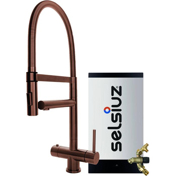 Selsiuz 3-in-1 Kokend-Water Kraan met Combi Extra Boiler en XL Kraan Copper