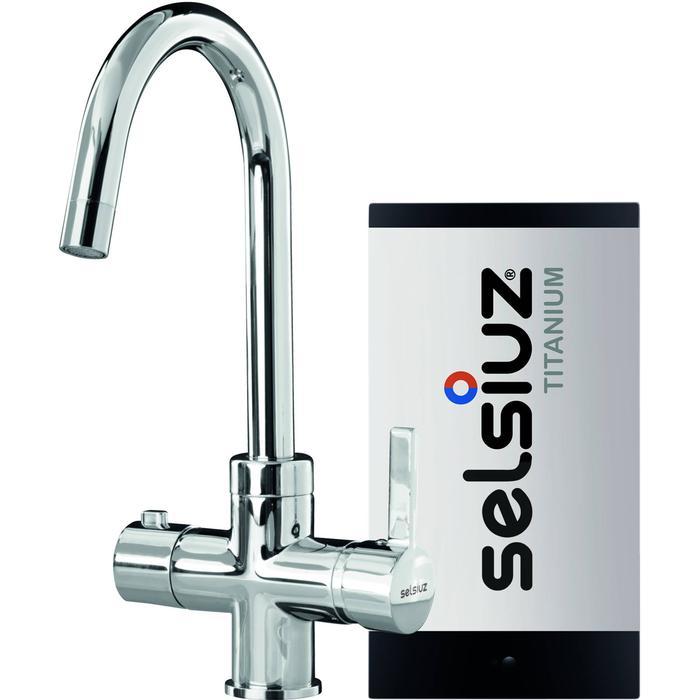 Selsiuz 3-in-1 Kokend-Water Kraan met Single Boiler en Ronde Kraan Chroom