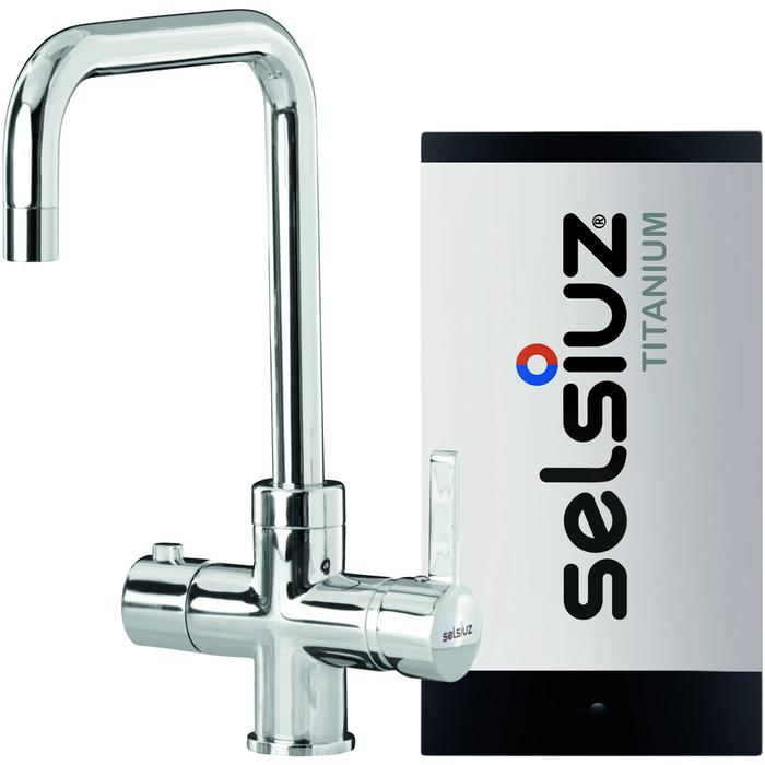 Selsiuz 3-in-1 Kokend-Water Kraan met Single Boiler en Haakse Kraan Chroom