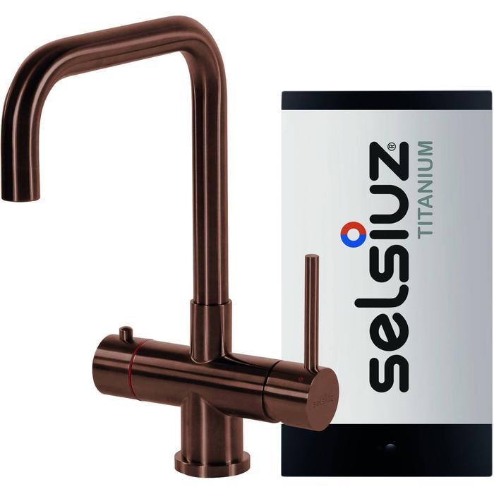Selsiuz 3-in-1 Kokend-Water Kraan met Single Boiler en Haakse Kraan Copper