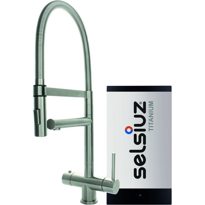 Selsiuz 3-in-1 Kokend-Water Kraan met Single Boiler en XL Kraan Roestvrijstaal