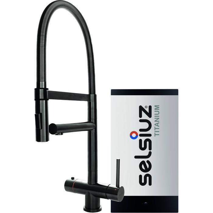 Selsiuz 3-in-1 Kokend-Water Kraan met Single Boiler en XL Kraan Gun Metal