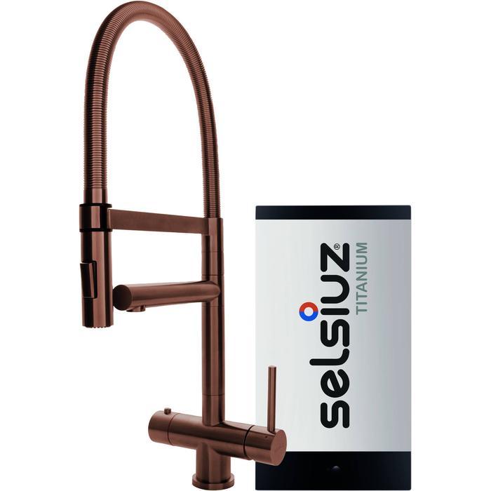 Selsiuz 3-in-1 Kokend-Water Kraan met Single Boiler en XL Kraan Copper
