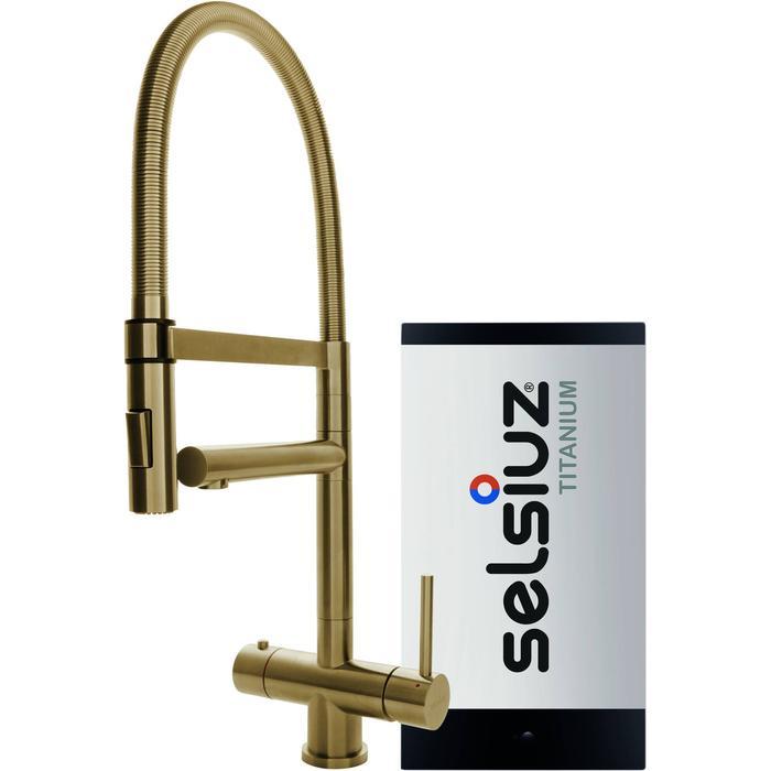 Selsiuz 3-in-1 Kokend-Water Kraan met Single Boiler en XL Kraan Gold
