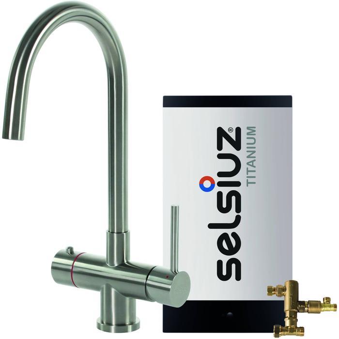 Selsiuz 3-in-1 Kokend-Water Kraan met Combi Boiler en Ronde Kraan Roestvrijstaal