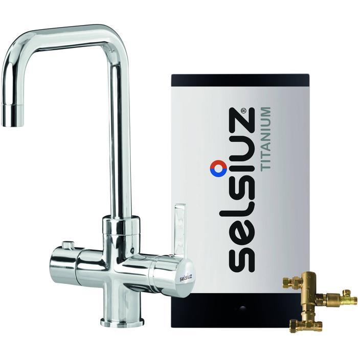 Selsiuz 3-in-1 Kokend-Water Kraan met Combi Boiler en Haakse Kraan Chroom