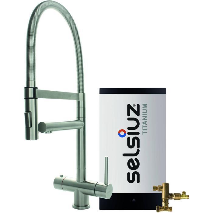 Selsiuz 3-in-1 Kokend-Water Kraan met Combi Boiler en XL Kraan Roestvrijstaal