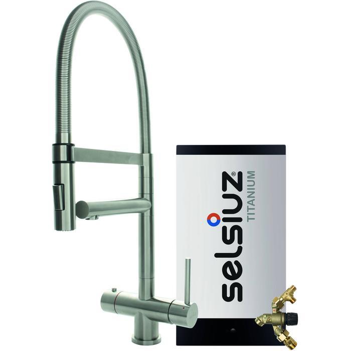 Selsiuz 3-in-1 Kokend-Water Kraan met Combi Extra Boiler en XL Kraan Roestvrijstaal