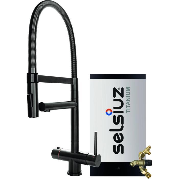 Selsiuz 3-in-1 Kokend-Water Kraan met Combi Extra Boiler en XL Kraan Gun Metal