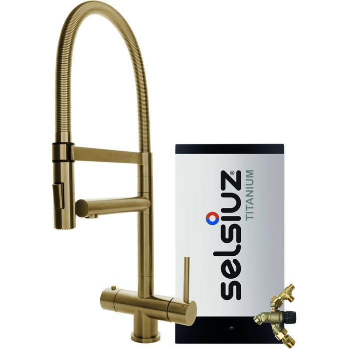 Selsiuz 3-in-1 Kokend-Water Kraan met Combi Extra Boiler en XL Kraan Gold