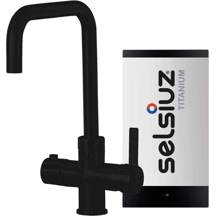 Selsiuz 3-in-1 Kokend-Water Kraan met Single Boiler en Haakse Kraan Zwart