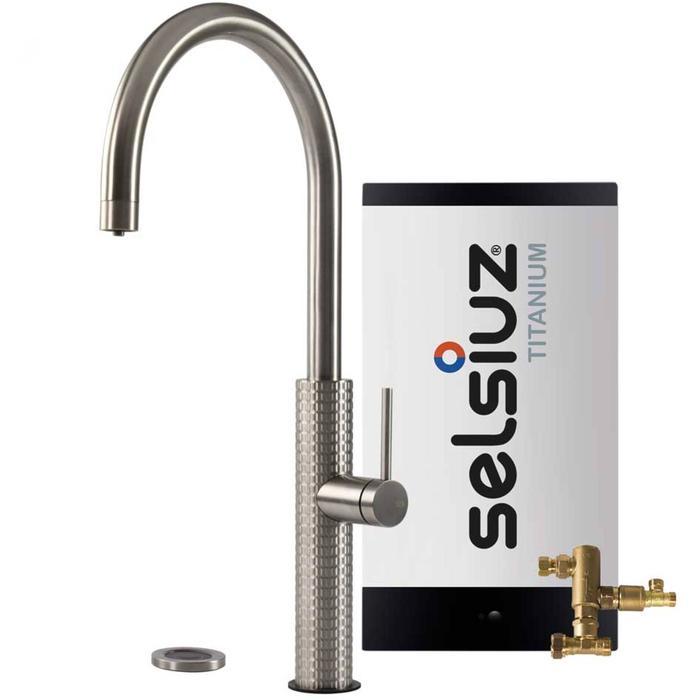 Selsiuz 3-in-1 Kokend-Water Kraan met Combi Boiler Roestvrijstaal