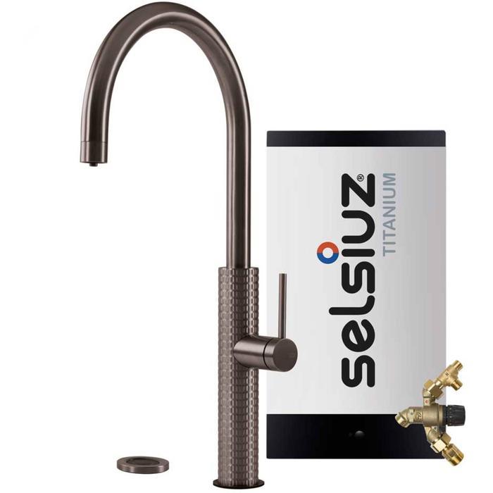Selsiuz 3-in-1 Kokend-Water Kraan met Combi Extra Boiler Gun metal