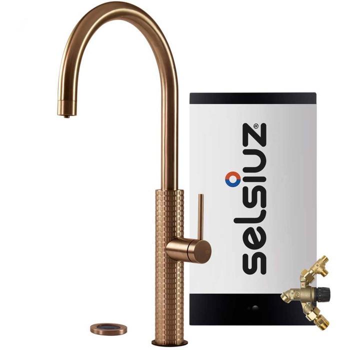 Selsiuz 3-in-1 Kokend-Water Kraan met Combi Extra Boiler Copper