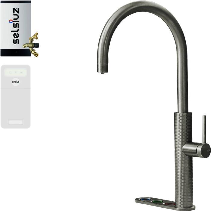 Selsiuz 5-in-1 Kokend-Water Kraan met Cooler en Combi Extra Boiler Roestvrijstaal