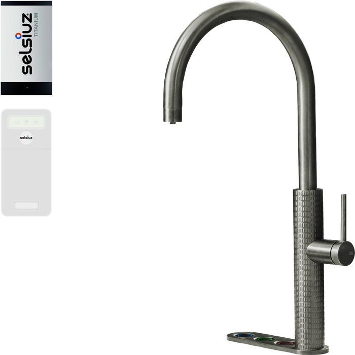 Selsiuz 5-in-1 Kokend-Water Kraan met Cooler en Single Boiler Roestvrijstaal