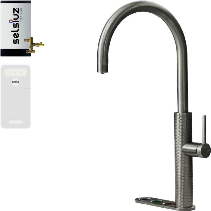 Selsiuz 5-in-1 Kokend-Water Kraan met Cooler en Combi Boiler Roestvrijstaal