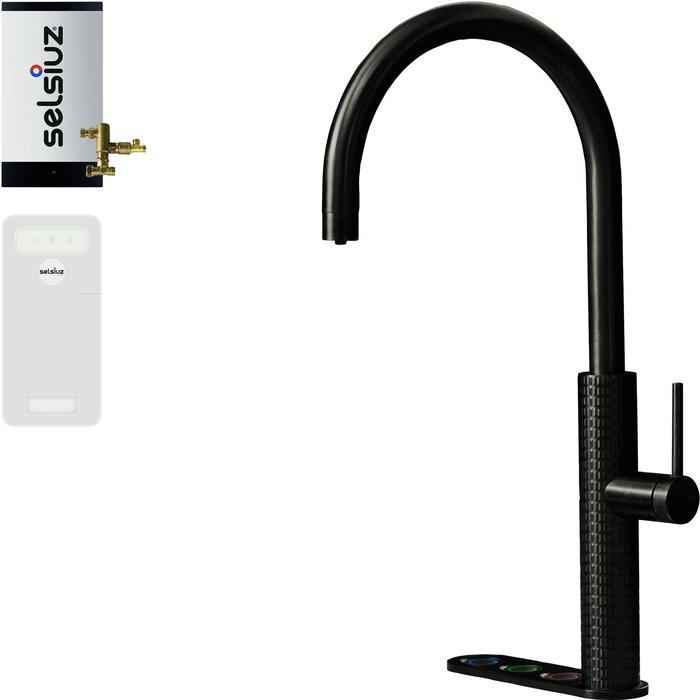 Selsiuz 5-in-1 Kokend-Water Kraan met Cooler en Combi Boiler Gun metal