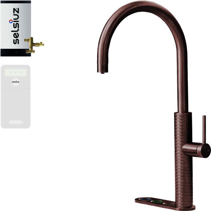 Selsiuz 5-in-1 Kokend-Water Kraan met Cooler en Combi Boiler Copper