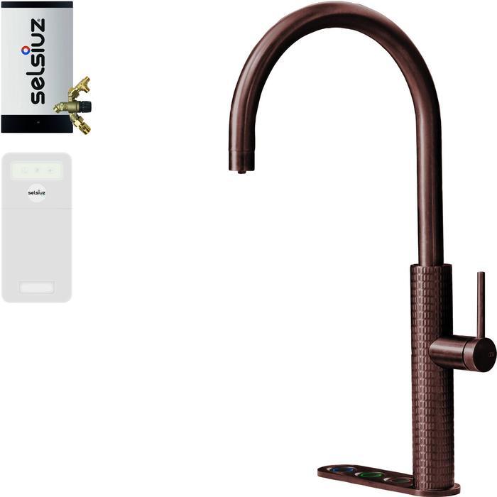 Selsiuz 5-in-1 Kokend-Water Kraan met Cooler en Combi Extra Boiler Copper