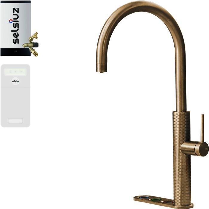 Selsiuz 5-in-1 Kokend-Water Kraan met Cooler en Combi Extra Boiler Gold