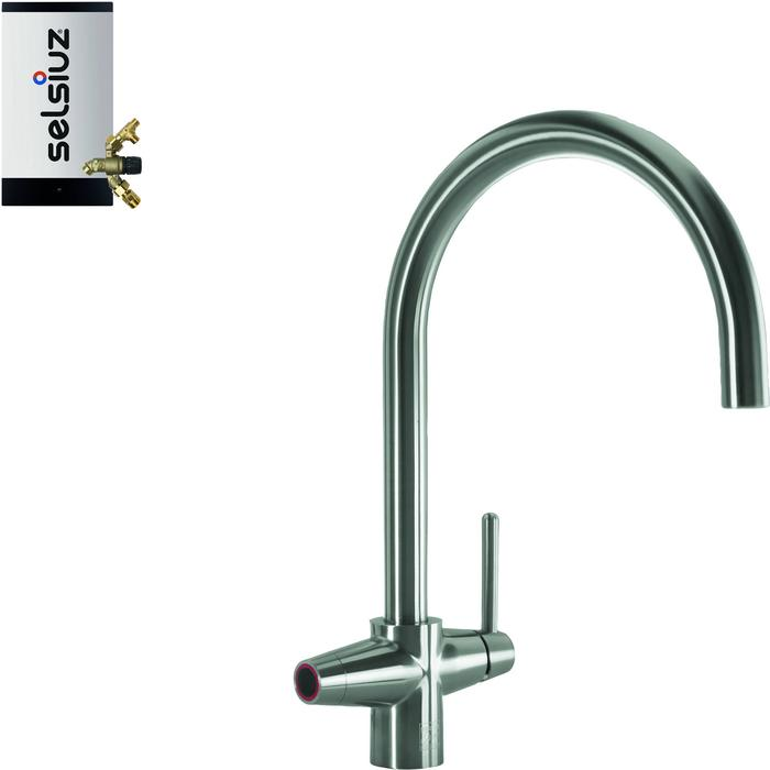 Selsiuz 3-in-1 Kokend-Water Kraan met Combi Extra Boiler Inox