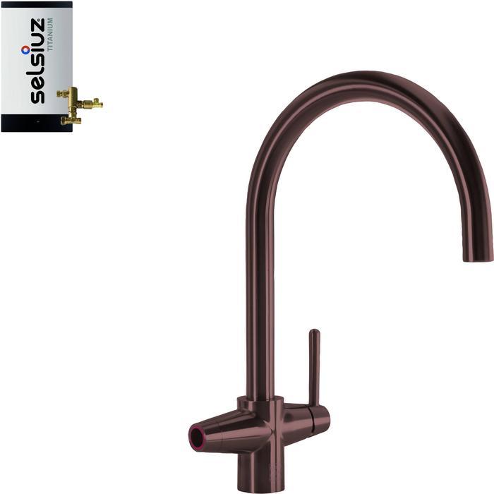 Selsiuz 3-in-1 Kokend-Water Kraan met Combi Boiler Copper