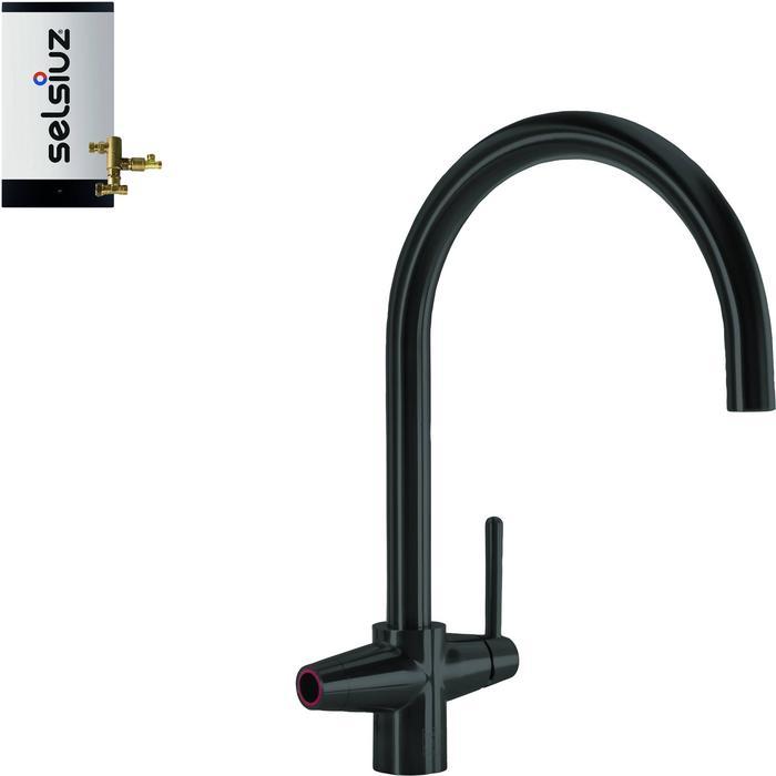 Selsiuz 3-in-1 Kokend-Water Kraan met Combi Boiler Sturdy Black