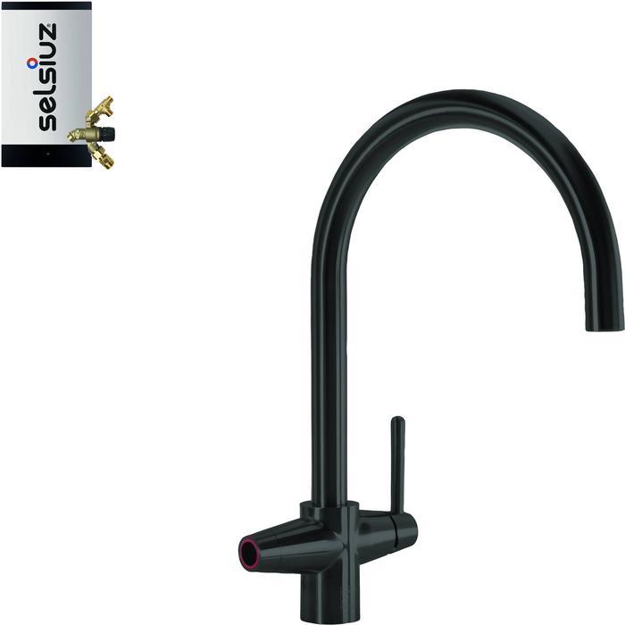 Selsiuz 3-in-1 Kokend-Water Kraan met Combi Extra Boiler Sturdy Black