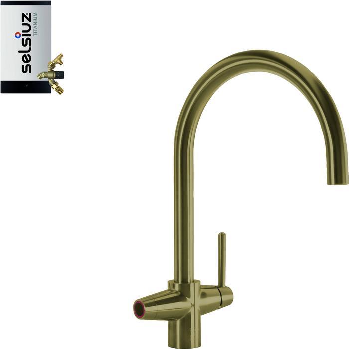 Selsiuz 3-in-1 Kokend-Water Kraan met Combi Extra Boiler Gold