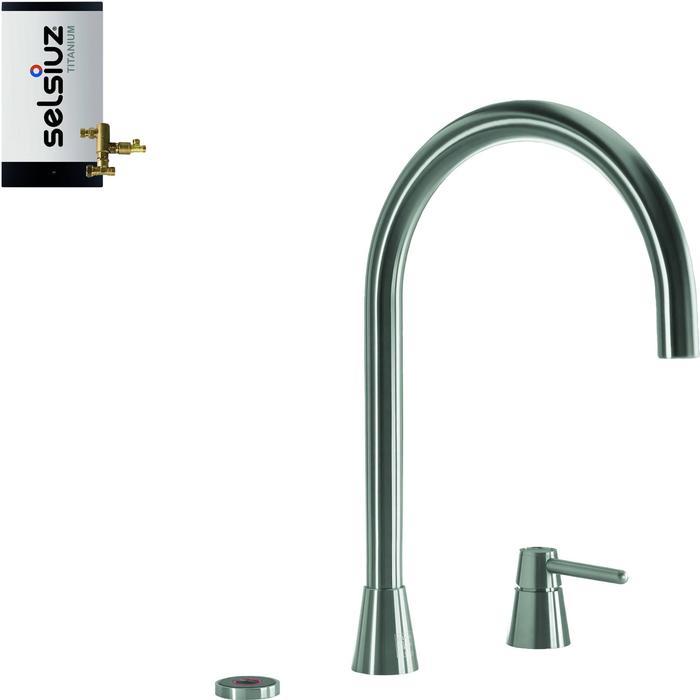 Selsiuz 3-in-1 Kokend-Water Kraan met Combi Boiler Inox