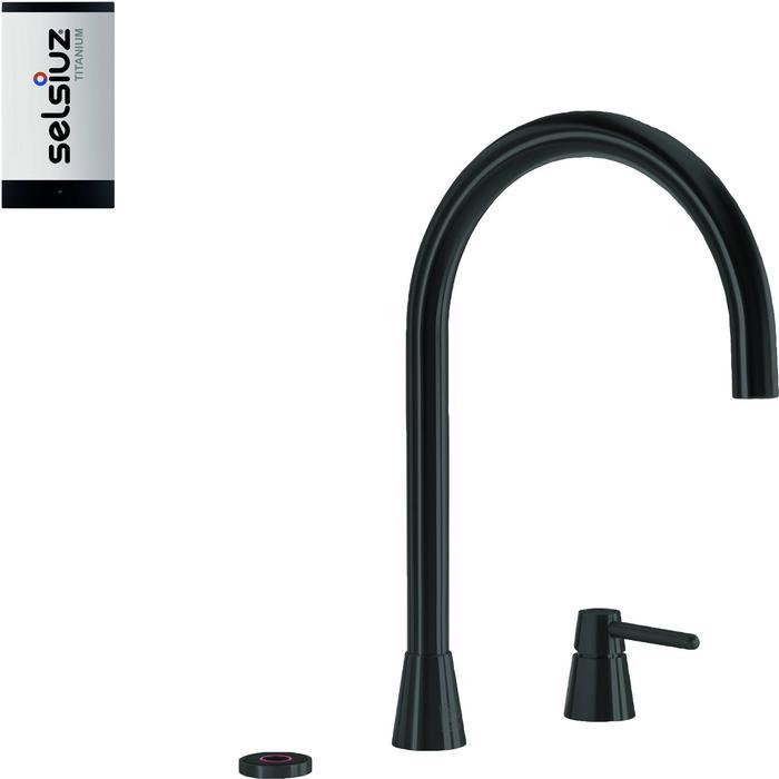 Selsiuz 3-in-1 Kokend-Water Kraan met Single Boiler Sturdy Black