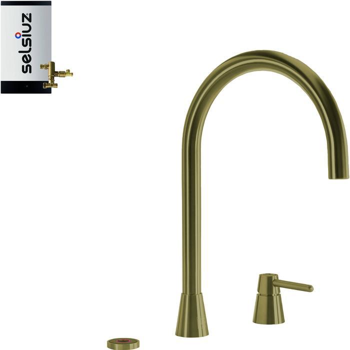 Selsiuz 3-in-1 Kokend-Water Kraan met Combi Boiler Gold