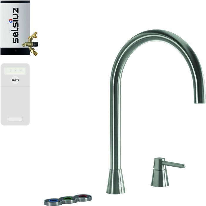 Selsiuz 5-in-1 Kokend-Water Kraan met Cooler en Combi Extra Boiler Inox