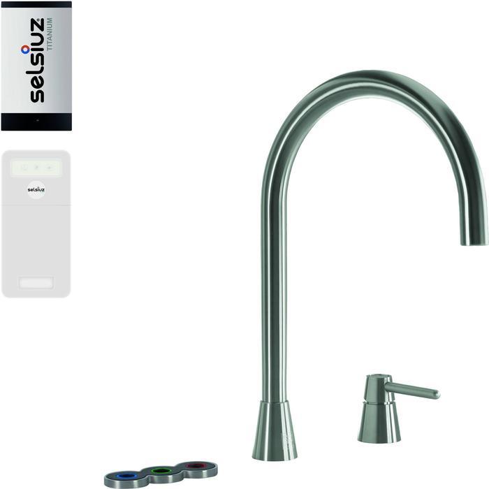 Selsiuz 5-in-1 Kokend-Water Kraan met Cooler en Single Boiler Inox