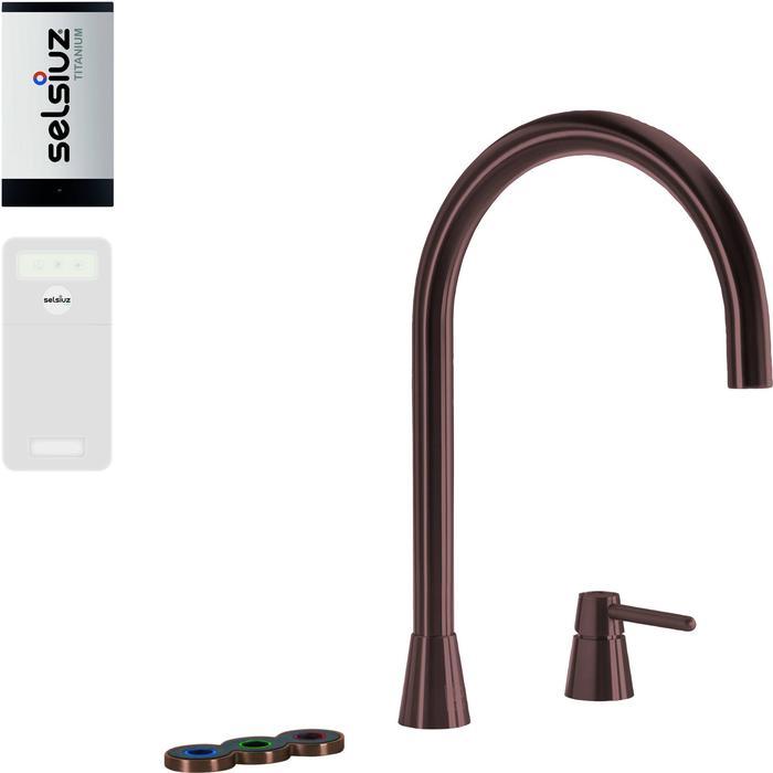Selsiuz 5-in-1 Kokend-Water Kraan met Cooler en Single Boiler Copper