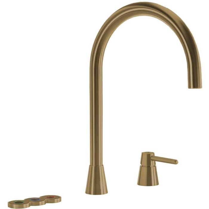 Selsiuz 5-in-1 Kokend-Water Kraan met Cooler en Single Boiler Gold