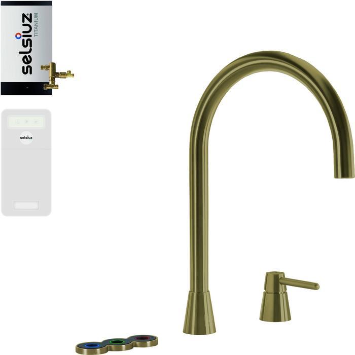 Selsiuz 5-in-1 Kokend-Water Kraan met Cooler en Combi Boiler Gold