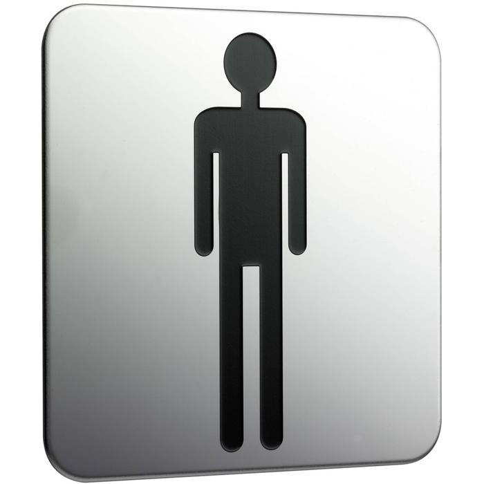 Emco System 2 deurplaat heren Chroom