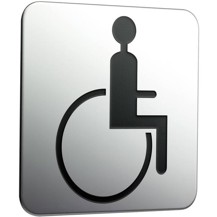 Emco System 2 deurplaat mindervaliden Chroom
