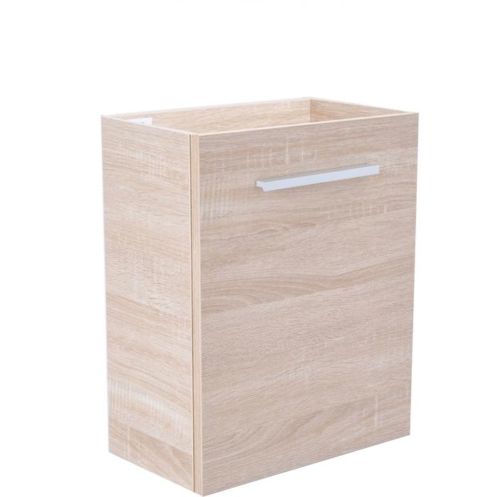 Saqu Wastafelonderkast 1 deur 40x21 cm Licht Eiken