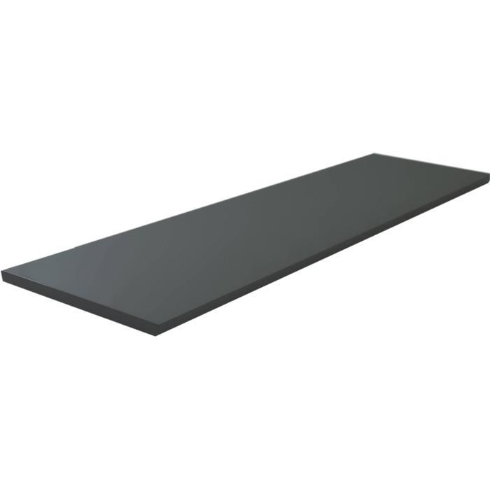 Saqu Afdekblad 161x46,5x2,5 cm Hoogglans Grijs