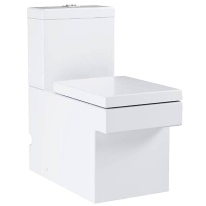 Grohe Cube Duoblokcloset Staand Rimless Excl. Reservoir met Hygiene Coating 37x56 cm Wit