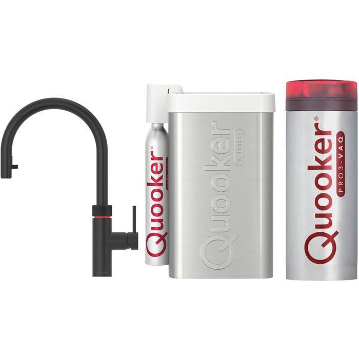 Quooker Flex Zwart met PRO3 boiler en CUBE reservoir 5-in-1-kraan