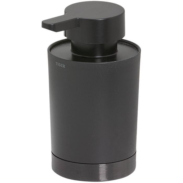 Tiger Tune Zeepdispenser 6,8x8,3x12,4 cm Zwart Metaal Geborsteld/Zwart