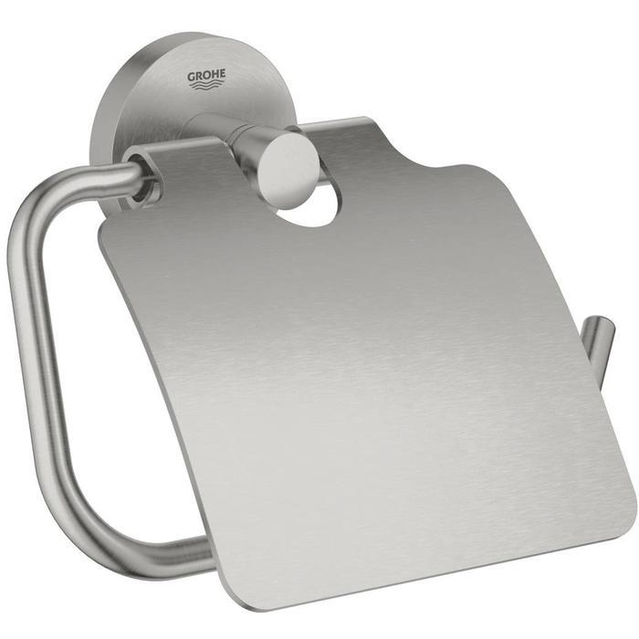 Grohe Essentials Closetrolhouder met klep Supersteel