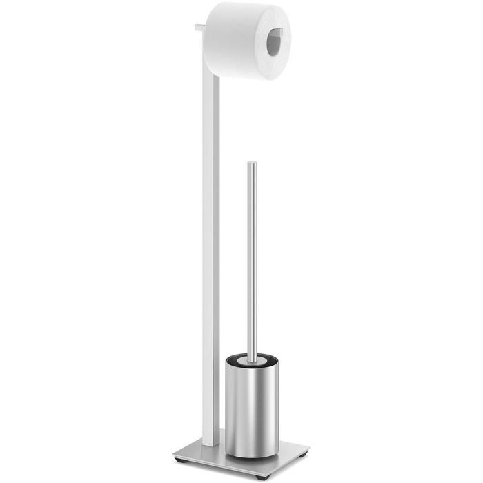 ZACK Carvo Toiletbutler 15x18x71,5 cm RVS Mat